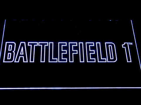 Battlefield 1 LED Neon Sign - White - SafeSpecial