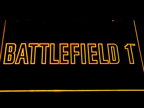 Battlefield 1 LED Neon Sign - Yellow - SafeSpecial