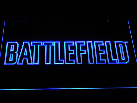 Battlefield LED Neon Sign - Blue - SafeSpecial