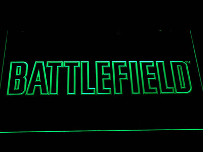 Battlefield LED Neon Sign - Green - SafeSpecial