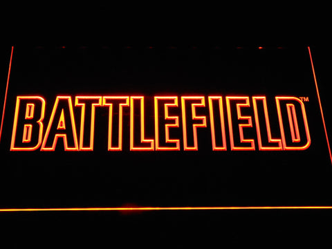 Battlefield LED Neon Sign - Orange - SafeSpecial