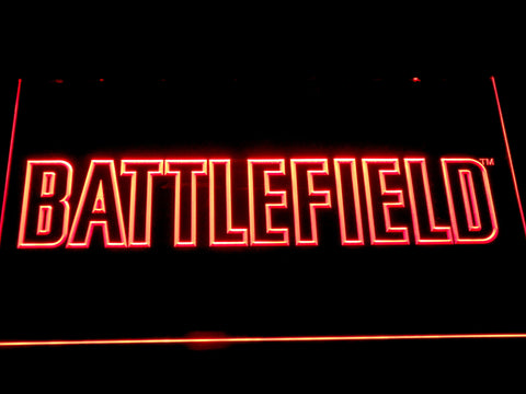 Battlefield LED Neon Sign - Red - SafeSpecial