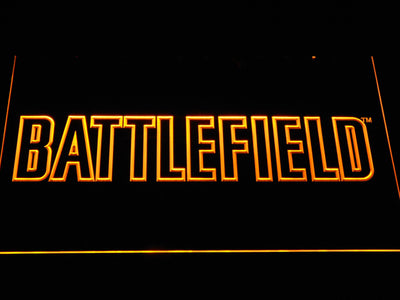 Battlefield LED Neon Sign - Yellow - SafeSpecial