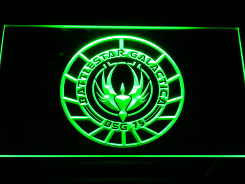 Image of Battlestar Galactica LED Neon Sign - Green - SafeSpecial