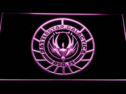 Battlestar Galactica LED Neon Sign - Purple - SafeSpecial