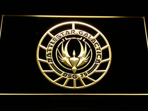 Battlestar Galactica LED Neon Sign - Yellow - SafeSpecial