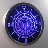 Battlestar Galactica LED Neon Wall Clock - Blue - SafeSpecial