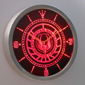 Battlestar Galactica LED Neon Wall Clock - Red - SafeSpecial