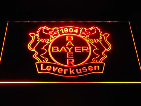 Bayer 04 Leverkusen LED Neon Sign - Orange - SafeSpecial