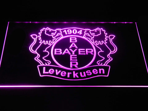 Bayer 04 Leverkusen LED Neon Sign - Purple - SafeSpecial