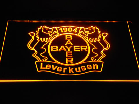 Bayer 04 Leverkusen LED Neon Sign - Yellow - SafeSpecial