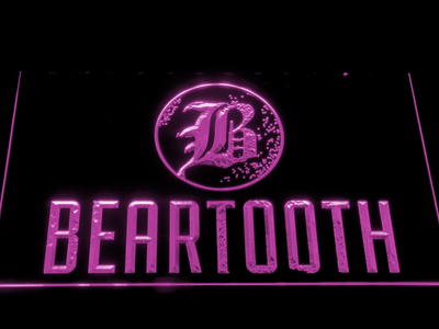 Beartooth LED Neon Sign - Purple - SafeSpecial