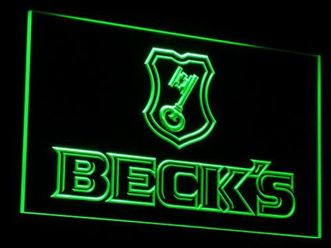 Beck's LED Neon Sign - Green - SafeSpecial