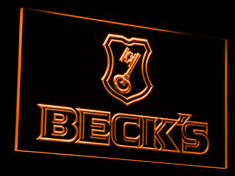 Beck's LED Neon Sign - Orange - SafeSpecial