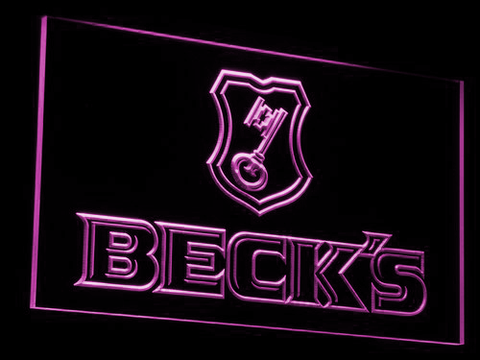 Beck's LED Neon Sign - Purple - SafeSpecial