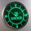 Beck's LED Neon Wall Clock - Green - SafeSpecial