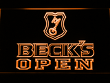 Beck's Open LED Neon Sign - Orange - SafeSpecial