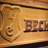 Beck's Wooden Sign - - SafeSpecial