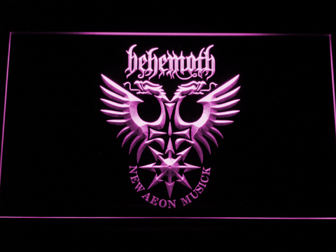 Behemoth LED Neon Sign - Purple - SafeSpecial