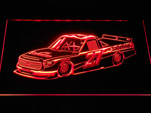 Ben Rhodes Race Car LED Neon Sign - Red - SafeSpecial