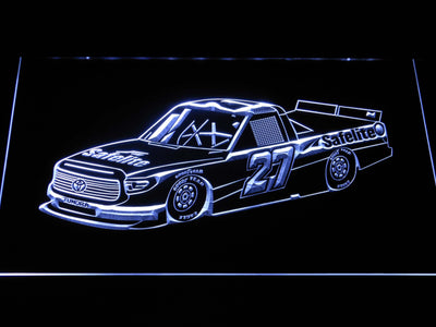 Ben Rhodes Race Car LED Neon Sign - White - SafeSpecial