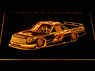 Ben Rhodes Race Car LED Neon Sign - Yellow - SafeSpecial