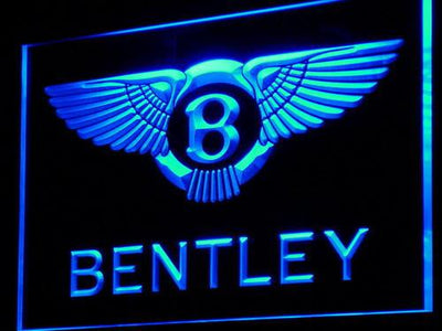 Bentley LED Neon Sign - Blue - SafeSpecial