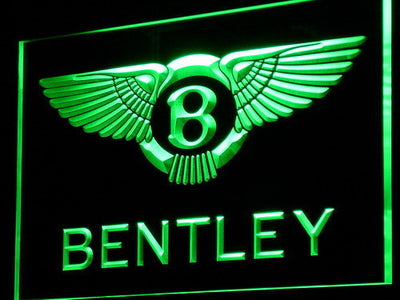 Bentley LED Neon Sign - Green - SafeSpecial