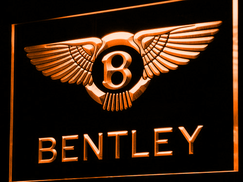 Bentley LED Neon Sign - Orange - SafeSpecial