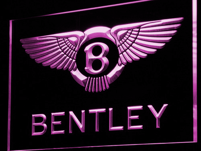 Bentley LED Neon Sign - Purple - SafeSpecial