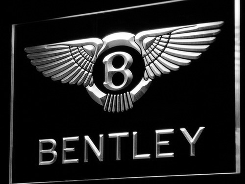 Bentley LED Neon Sign - White - SafeSpecial