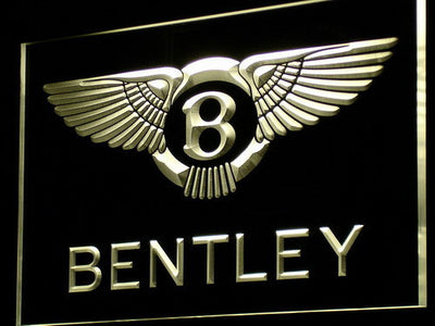 Bentley LED Neon Sign - Yellow - SafeSpecial