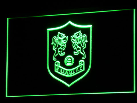 Bermondsey Millwall FC LED Neon Sign - Legacy Edition - Green - SafeSpecial