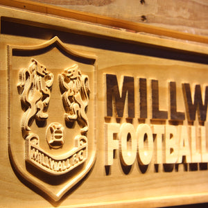 Bermondsey Millwall FC Wooden Sign - Legacy Edition - - SafeSpecial