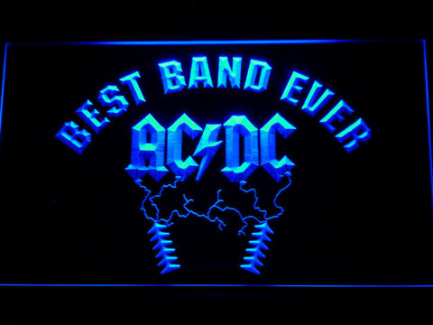 Image of Best Band Ever AC/DC LED Neon Sign - Blue - SafeSpecial