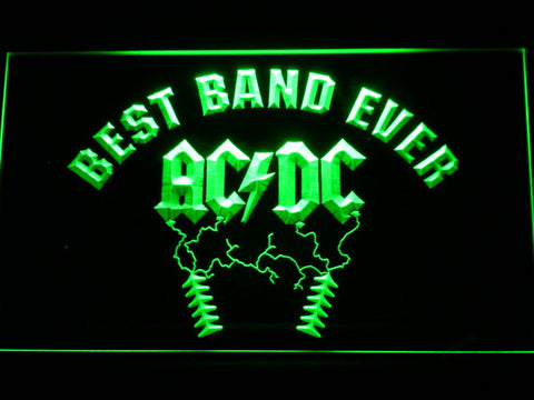 Image of Best Band Ever AC/DC LED Neon Sign - Green - SafeSpecial