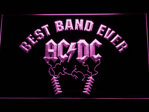 Image of Best Band Ever AC/DC LED Neon Sign - Purple - SafeSpecial