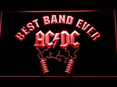 Image of Best Band Ever AC/DC LED Neon Sign - Red - SafeSpecial