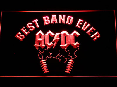 Best Band Ever AC/DC LED Neon Sign - Red - SafeSpecial
