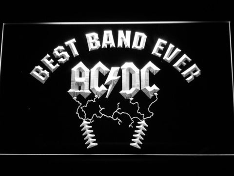 Image of Best Band Ever AC/DC LED Neon Sign - White - SafeSpecial
