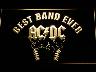 Best Band Ever AC/DC LED Neon Sign - Yellow - SafeSpecial