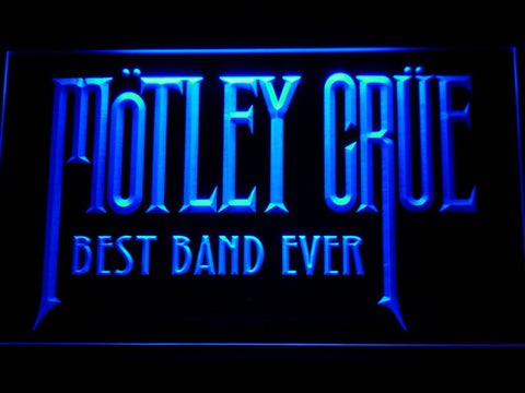 Image of Best Band Ever Motley Crue LED Neon Sign - Blue - SafeSpecial
