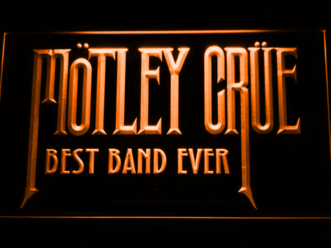 Image of Best Band Ever Motley Crue LED Neon Sign - Orange - SafeSpecial