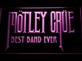 Best Band Ever Motley Crue LED Neon Sign - Purple - SafeSpecial