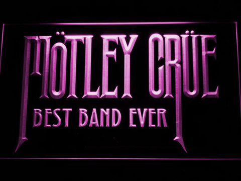 Image of Best Band Ever Motley Crue LED Neon Sign - Purple - SafeSpecial
