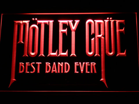 Image of Best Band Ever Motley Crue LED Neon Sign - Red - SafeSpecial