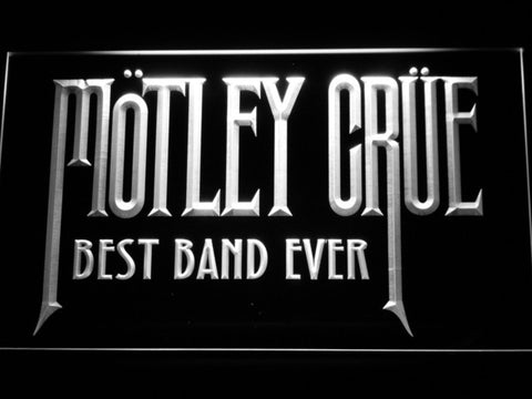 Best Band Ever Motley Crue LED Neon Sign - White - SafeSpecial