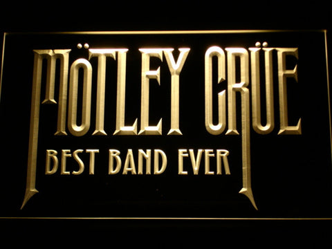 Image of Best Band Ever Motley Crue LED Neon Sign - Yellow - SafeSpecial