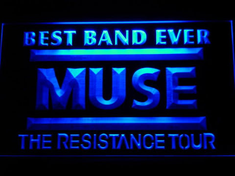 Best Band Ever MUSE LED Neon Sign - Blue - SafeSpecial