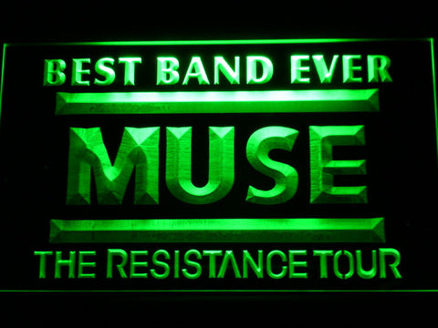 Best Band Ever MUSE LED Neon Sign - Green - SafeSpecial
